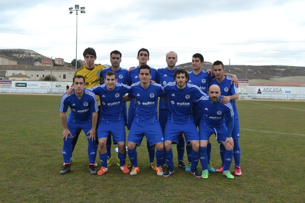 Once del CD Cuéllar en la temporada 2014/15 en Preferente