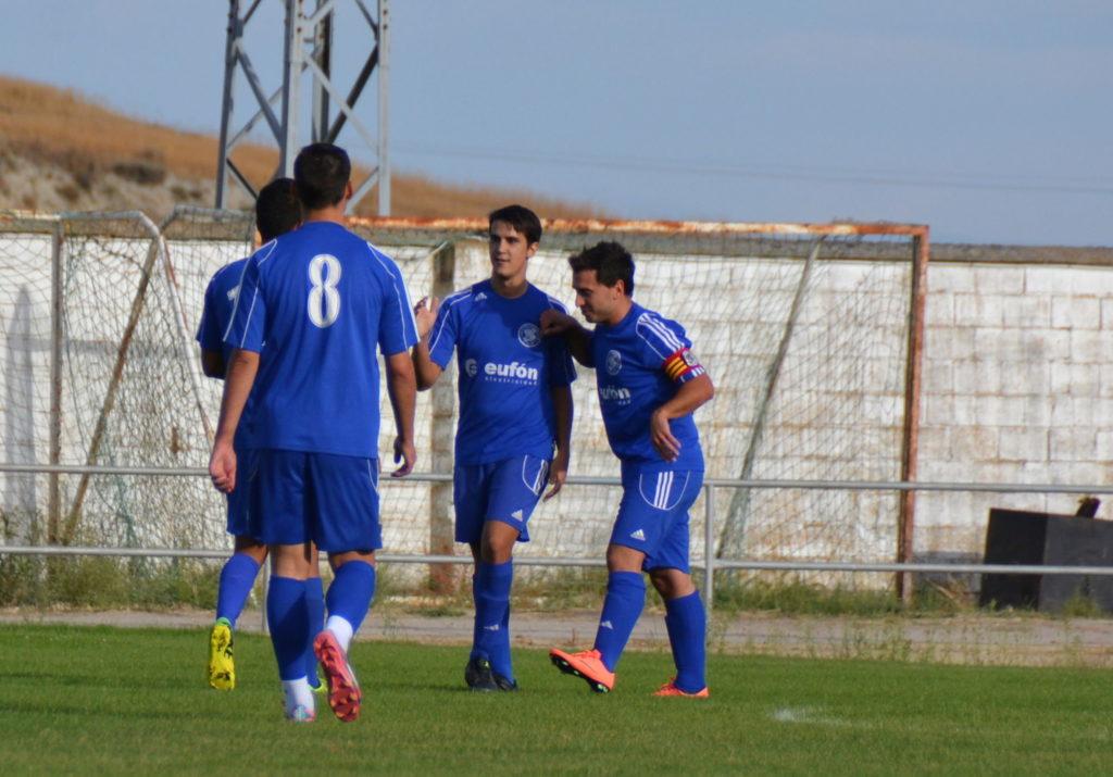 Celebración del 1-0 logrado por Puche